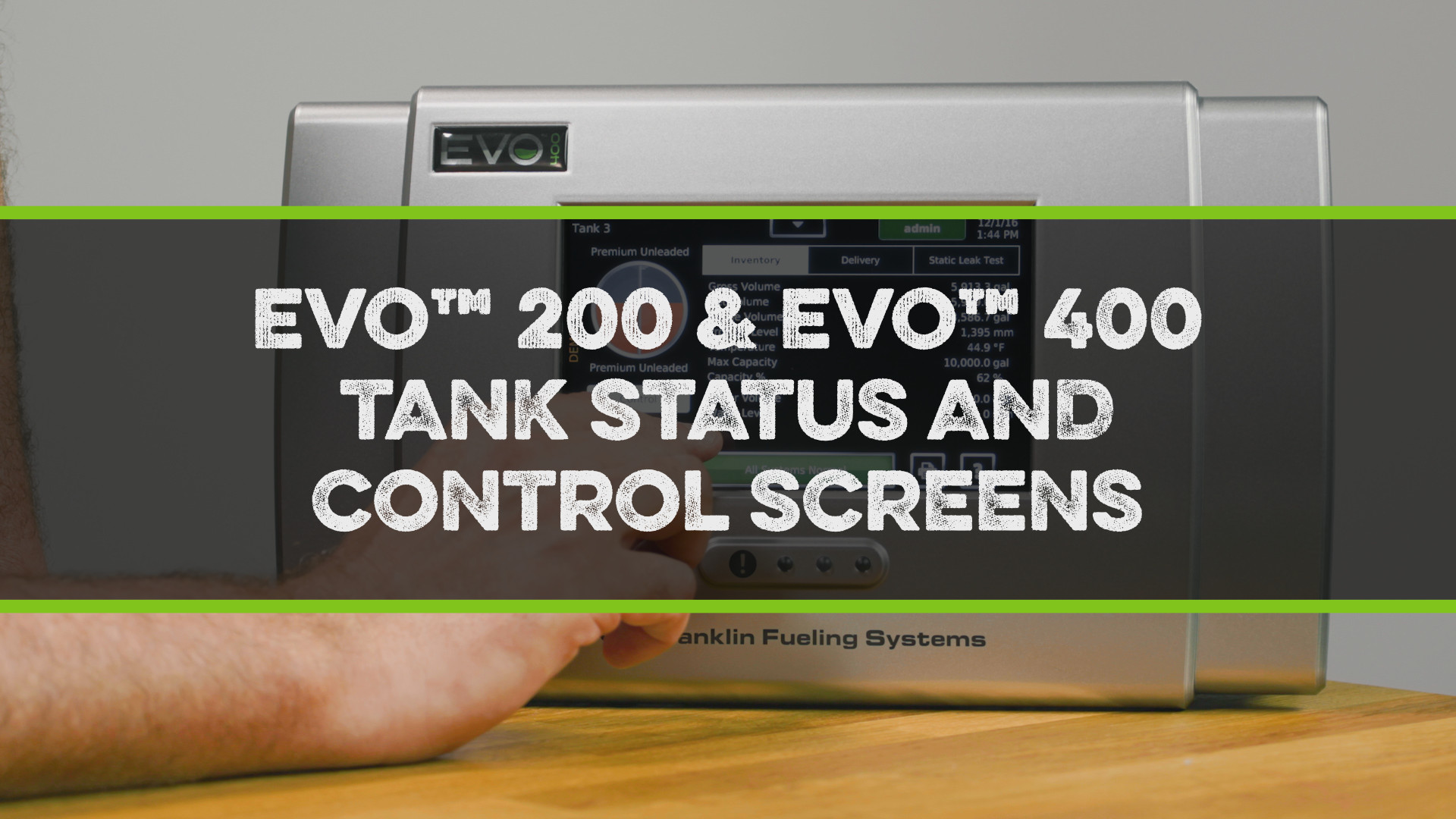 FFS Pro Evo 200-400 Tank Status and Control Screens Video