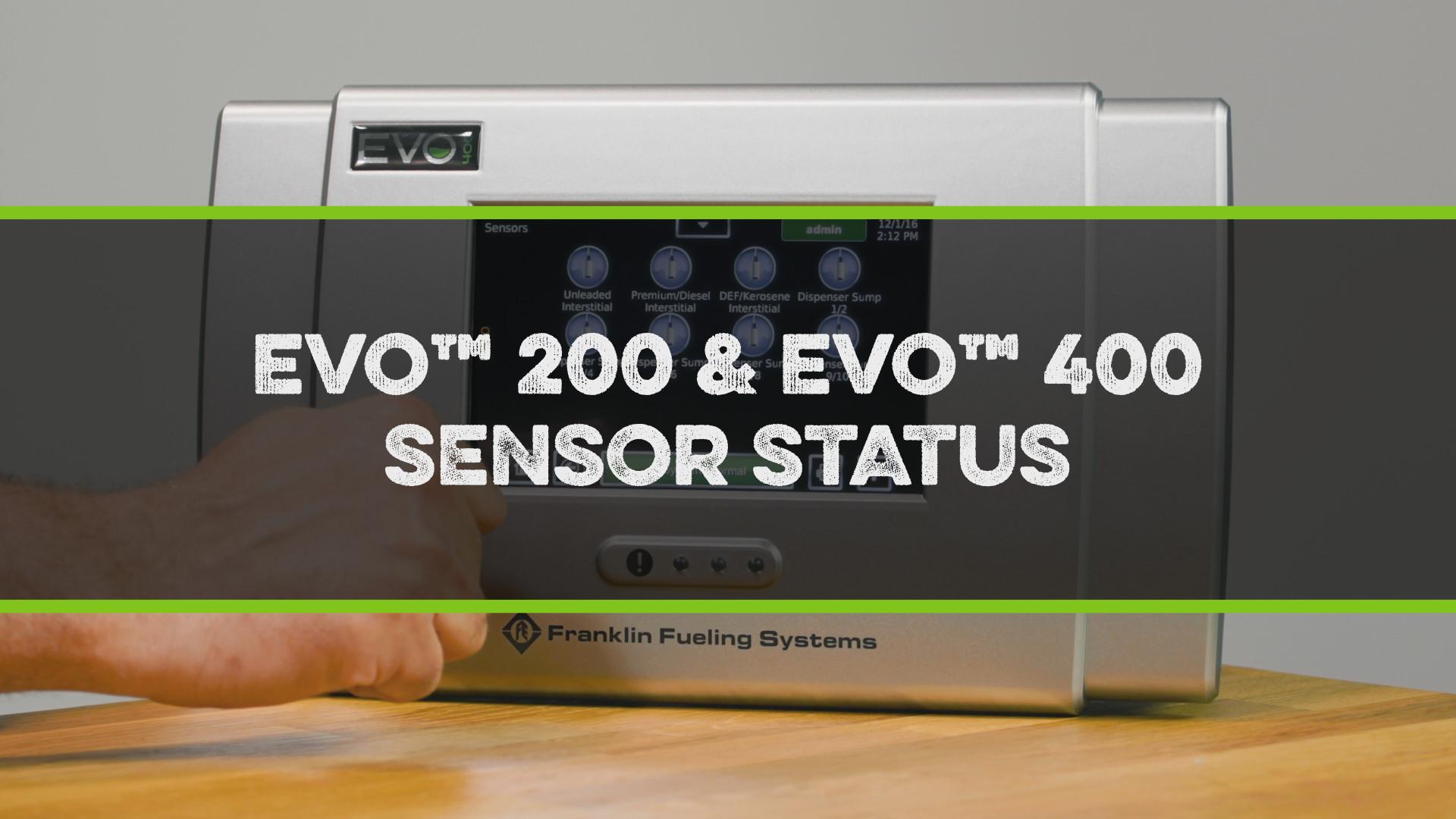 FFS Pro Evo 200-400 Sensor Status Video