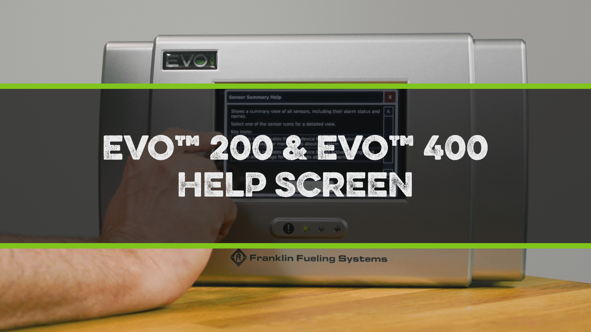 FFS Pro Evo 200-400 Help Screen Video